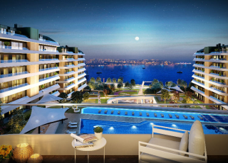 Apartments With Wide Balconies And Terraces Integrating With The Sea